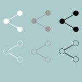 Symbool om wit grijs zwart pictogram te delen vector illustratie