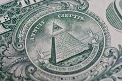 Symbool op Één Dollar Royalty-vrije Stock Foto's