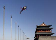 Symbool in oud Peking. Qianmen. Royalty-vrije Stock Afbeeldingen