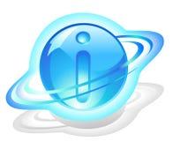 Symbool-pictogram - deeltje van informatie stock illustratie