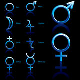 Symbool, planeet Stock Fotografie