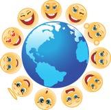 Symbool, planeet, aarde, emotie Royalty-vrije Stock Fotografie