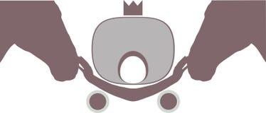 Symbool Twee hoofden van paard en vervoer Stock Afbeeldingen