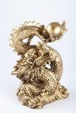 Symbool van 2012 - de Gouden draak Stock Afbeeldingen