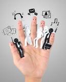 Symbool van bedrijfs sociaal netwerk Royalty-vrije Stock Foto's