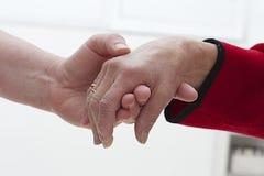 Symbool van bejaarde hulp Stock Fotografie