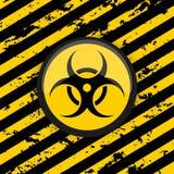 Symbool van biologische gevaarlijk op een grungeachtergrond royalty-vrije illustratie