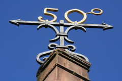 Symbool van de 50ste graad royalty-vrije stock foto