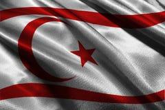Symbool van de de vlag 3D illustratie van Cyprus Stock Afbeelding