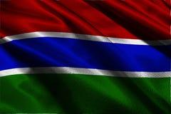 Symbool van de de vlag 3D illustratie van Gambia het nationale Royalty-vrije Stock Afbeelding