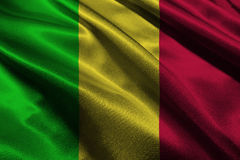 Symbool van de de vlag 3D illustratie van Mali het nationale Mali Flag Royalty-vrije Stock Fotografie
