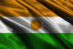 Symbool van de de vlag 3D illustratie van Niger het nationale Niger Flag Stock Fotografie