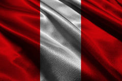 Symbool van de de vlag 3D illustratie van Peru het nationale Peru Flag royalty-vrije illustratie