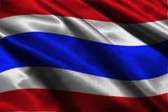 Symbool van de de vlag 3D illustratie van Thailand het nationale Royalty-vrije Stock Afbeelding