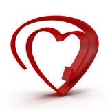 Symbool van de hart tserdtse het rode pijl Royalty-vrije Stock Foto
