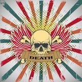 Symbool van de schedel met tanden Royalty-vrije Stock Foto