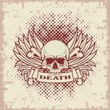 Symbool van de schedel met tanden Stock Afbeelding