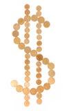Symbool van dollar Royalty-vrije Stock Foto's