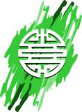 Symbool van dubbel geluk op abstracte geïsoleerde achtergrond Royalty-vrije Stock Afbeeldingen