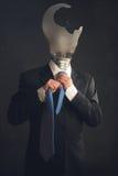 Symbool van een zakenman met doorsmeltingssyndroom stock afbeelding
