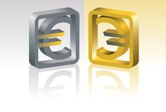 Symbool van euro Royalty-vrije Stock Foto