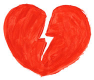Symbool van gebroken liefde Stock Foto's