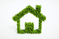 Symbool van het ecologie het onafhankelijke huis Stock Fotografie