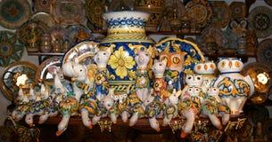 Symbool van het Eiland Sicilië, Italië. Stock Afbeeldingen