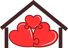 Symbool van het huis Stock Foto's
