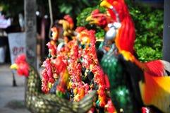 Symbool van het jaar in de Aziatische stijl - Haan Royalty-vrije Stock Foto