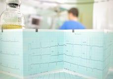 Symbool van het ziekenhuisobservatie en geduldige zorg stock fotografie