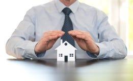 Symbool van huisverzekering stock foto's