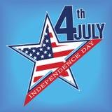 Symbool van 4 Juli, Onafhankelijkheidsdag Royalty-vrije Stock Foto's
