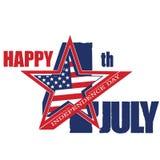 Symbool van 4 Juli, Onafhankelijkheidsdag Royalty-vrije Stock Foto