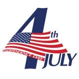 Symbool van 4 Juli, Onafhankelijkheidsdag Royalty-vrije Stock Afbeelding