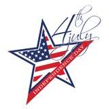 Symbool van 4 Juli, Onafhankelijkheidsdag Royalty-vrije Stock Afbeeldingen
