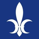 Symbool van koninklijke macht in middeleeuws Frankrijk Vlak beeld Vector graphhics Stock Afbeeldingen