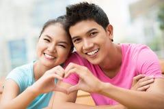 Symbool van liefde Stock Foto's