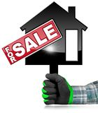 Symbool van Modelhouse for sale Stock Afbeeldingen