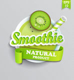 Symbool van natuurlijke smoothie Stock Fotografie