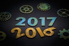Symbool van nummer 2017 Stock Foto's