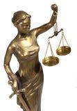 Symbool van rechtvaardigheid Stock Afbeeldingen