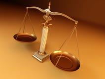 Symbool van rechtvaardigheid. Schaal Royalty-vrije Stock Afbeelding