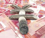 Symbool van renminbi Royalty-vrije Stock Foto