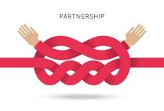 Symbool van samenwerking tussen bedrijven en vennootschap stock illustratie