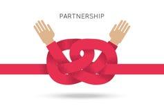 Symbool van samenwerking tussen bedrijven en vennootschap vector illustratie