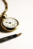Symbool van Tijd en Mededeling Stock Foto's