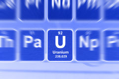 Symbool van Uranium Royalty-vrije Stock Foto