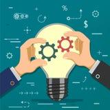 Symbool van vennootschap en samenwerking stock illustratie