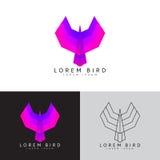 Symbool van vliegende vogel Stock Afbeeldingen
